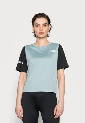 Print T-shirt - silver blue/black