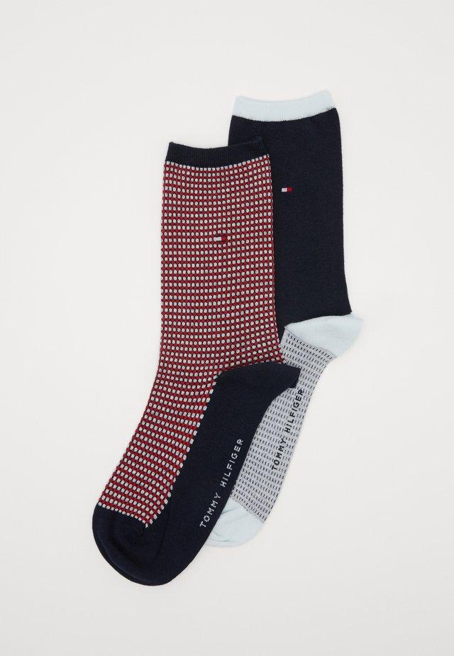 SOCK HONEYCOMB 2 PACK - Socks - navy/red