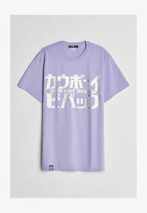 T-shirt med print - mauve