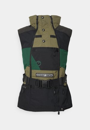 STEEP TECH APOGEE VEST - Waistcoat - burnt olive green/evergreen/black