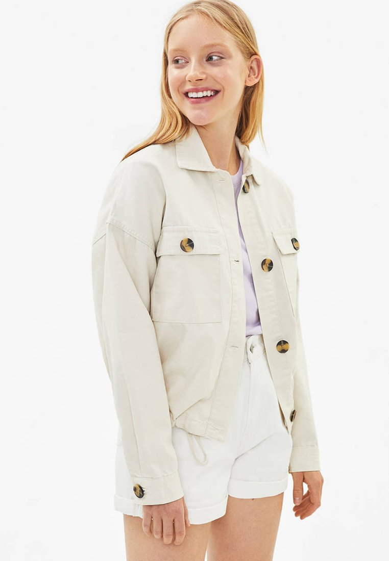 Bershka - Summer jacket - white