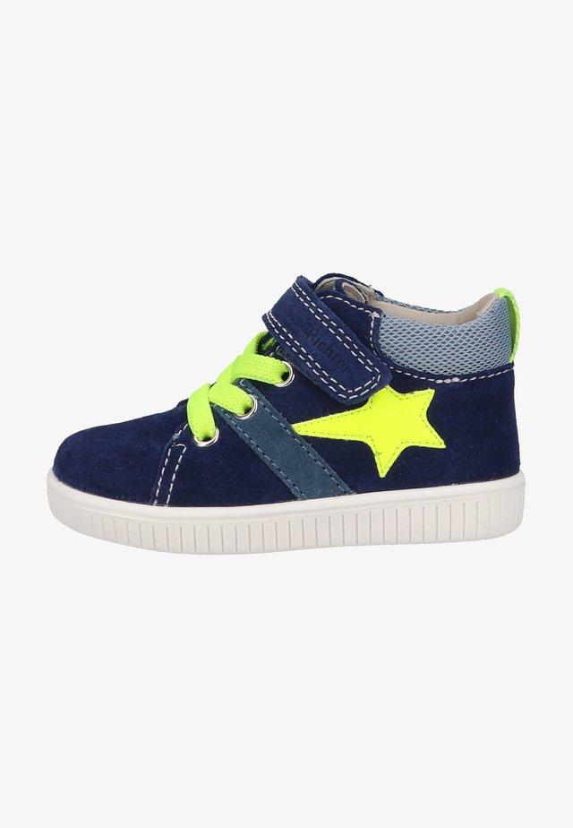 Sneakers hoog - nauti/sky/neon yellow/bl