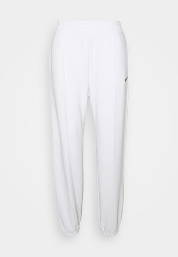 Tracksuit bottoms - white/black