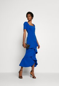 True Violet - FRILL LAYER DRESS WITH SQUARE NECK - Occasion wear - blue - 1