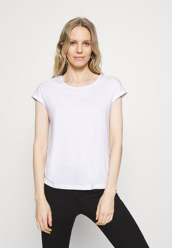 3 PACK - Camiseta básica - black/white/dark red