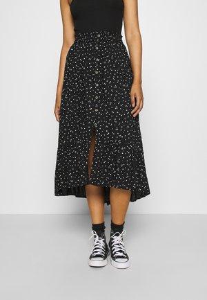 Áčková sukně - black floral
