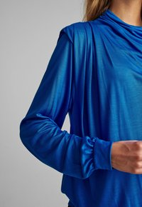 Nümph - NUBELLEZZA BLOUSE - Top sdlouhým rukávem - blue - 3