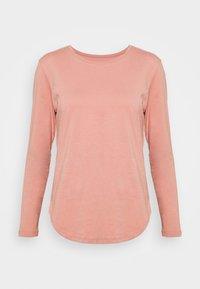 LONG SLEEVE SADDLE HEM - Pitkähihainen paita - dusty pink