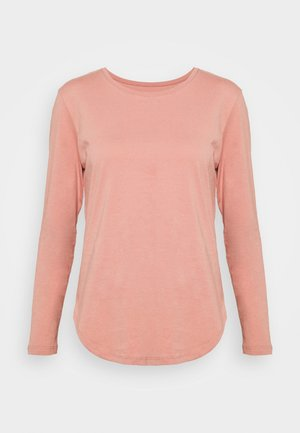 LONG SLEEVE SADDLE HEM - Long sleeved top - dusty pink