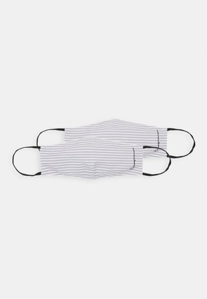 STRIPED FASHION MASKS UNISEX 2 PACK - Stoffen mondkapje - grey/white