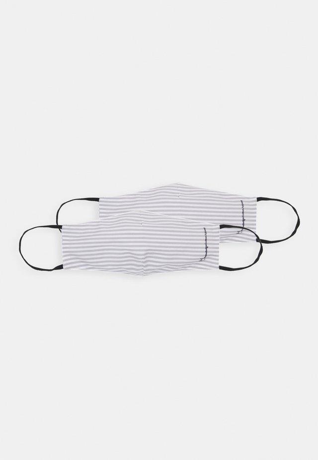 STRIPED FASHION MASKS UNISEX 2 PACK - Látková maska - grey/white