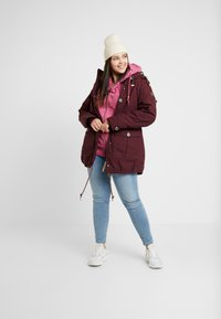 Ragwear Plus - JANE COAT - Parkatakki - wine red - 1