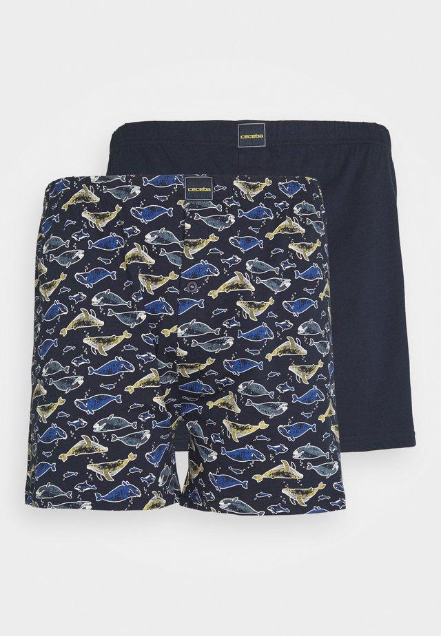 BOXERSHORTS 2 PACK - Boxershorts - blue