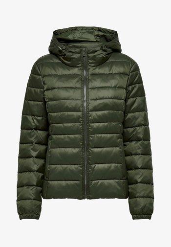 ONLTAHOE HOOD JACKET  - Light jacket - forest night