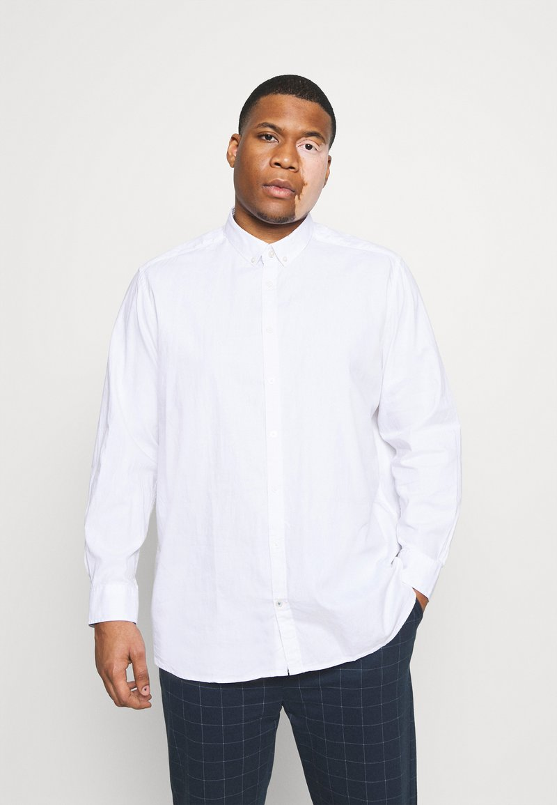 TOM TAILOR MEN PLUS - OXFORD BASIC - Shirt - white