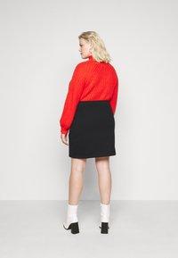 Even&Odd Curvy - Mini skirt - black - 2