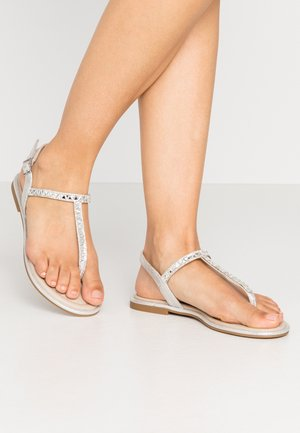 SHEENY - T-bar sandals - silver