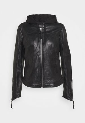 TIPPI - Leather jacket - black