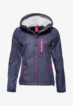 WINDTREKKER  - Light jacket - true indigo blue mottled/neon pink