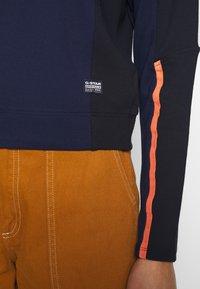 G-Star - NOSTELLE BIKER HALFZIP - Zip-up hoodie - servant blue/mazarine blue - 6
