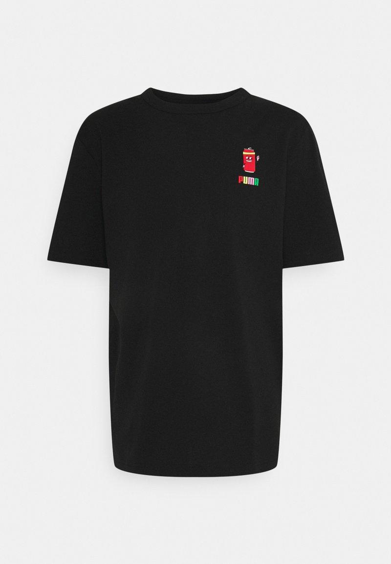 Puma - DOWNTOWN GRAPHIC TEE - Print T-shirt - black celandine