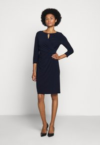 Lauren Ralph Lauren - MID WEIGHT DRESS TRIM - Pouzdrové šaty - lighthouse navy - 0