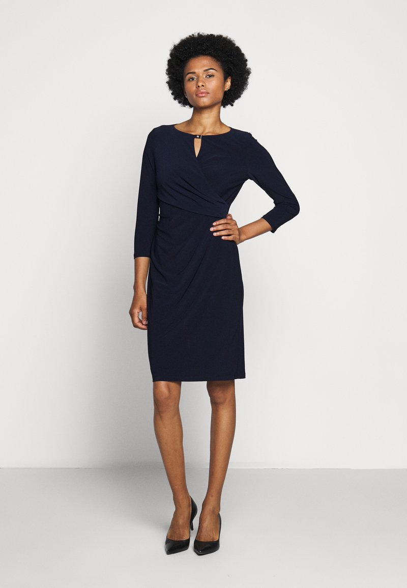 Lauren Ralph Lauren - MID WEIGHT DRESS TRIM - Pouzdrové šaty - lighthouse navy