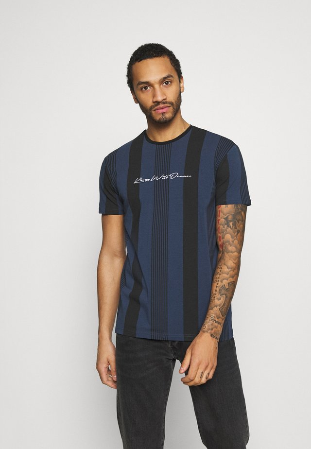 VEDLO - T-shirt con stampa - jet black / navy