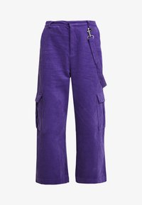 The Ragged Priest - WIDE LEG CROPPED TROUSER WITH COMBAT POCKET & STRAP DETAIL - Bukser - purple - 5