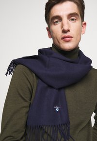 Barbour - PLAIN SCARF UNISEX - Scarf - navy - 0