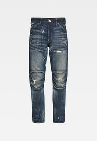 G-Star - 5620 3D ORIGINAL RELAXED TAPERED - Jeans relaxed fit - antic faded tarnish blue destroyed - 2