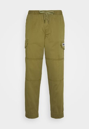 TAPERED CUFFED PANT - Cargo trousers - olive