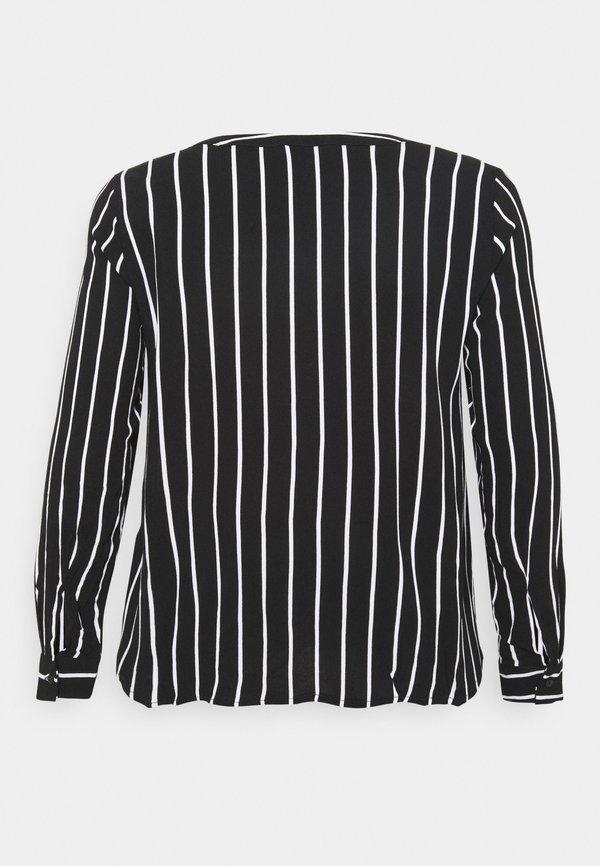 Zizzi VAMONE BLOUSE - Bluzka - black white/czarny SMZQ