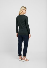 New Look Maternity - NURSING 2 PACK - Long sleeved top - dark green/dark burgundy - 2
