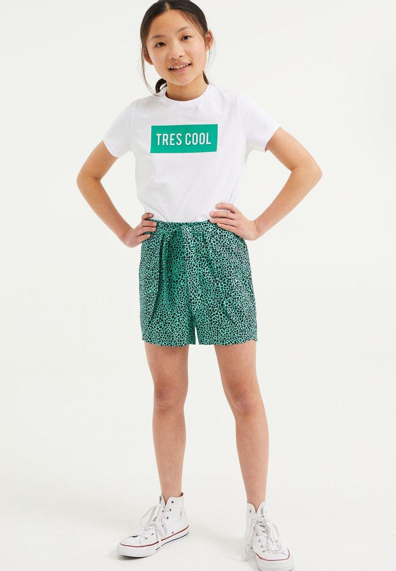 WE Fashion - MET DESSIN - Shorts - turquoise
