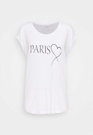 T-shirts med print - weiß