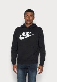 Nike Sportswear - CLUB HOODIE - Huppari - black/white - 0