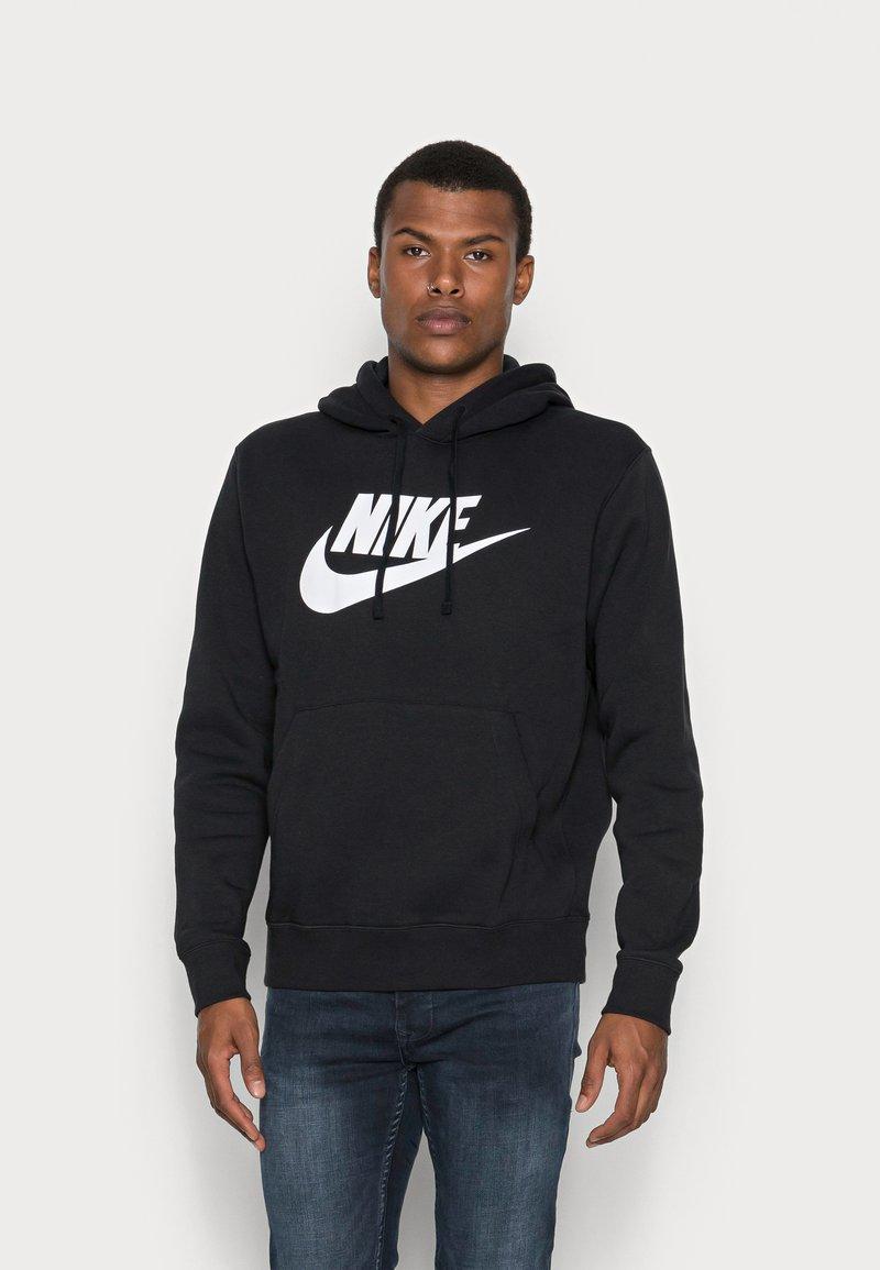 Nike Sportswear - CLUB HOODIE - Huppari - black/white