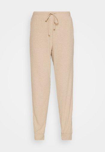 ONLZOE LONG PANTS  - Tracksuit bottoms - beige