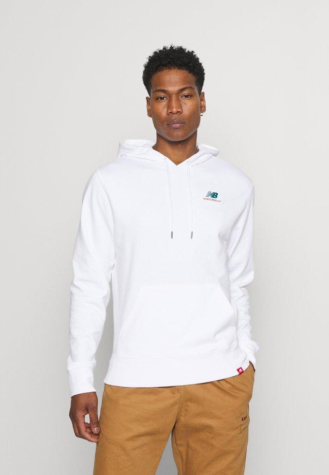 ESSENTIALS EMBROIDERED HOODIE - Sweatshirt - white