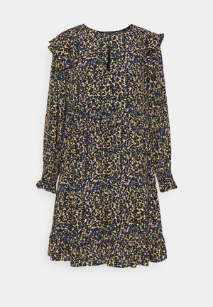 PRINTED DRAPEY DRESS WITH SHOULDER RUFFLES - Denní šaty - multicoloured