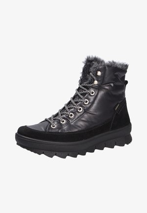 Lace-up ankle boots - schwarzkombi (02)