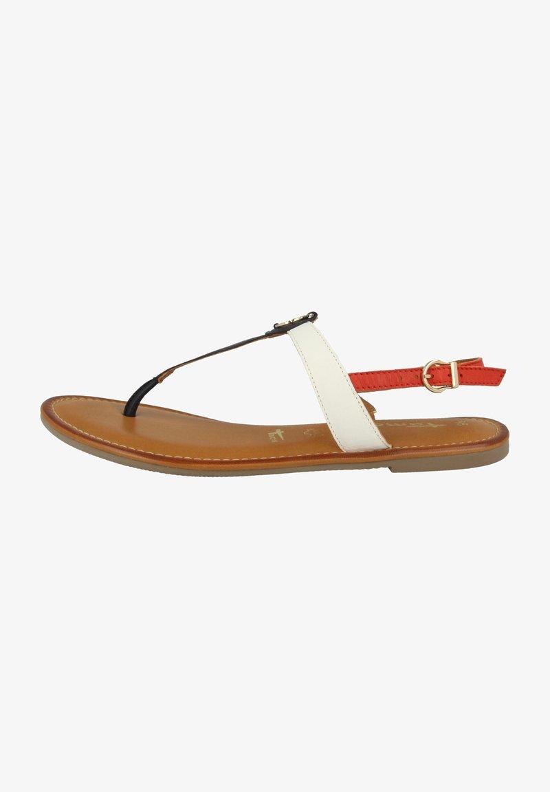 Tamaris - T-bar sandals - navy comb