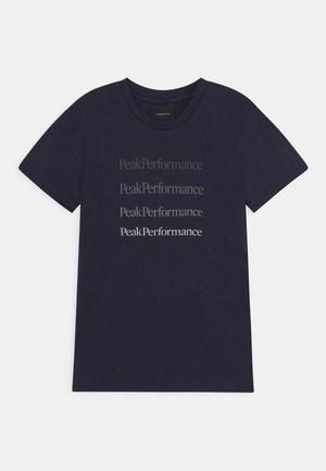 GROUND TEE UNISEX - T-shirt med print - blue shadow