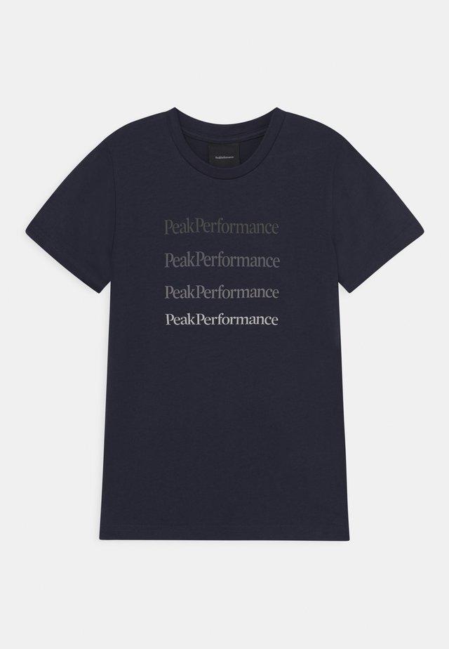 GROUND TEE UNISEX - T-shirt print - blue shadow
