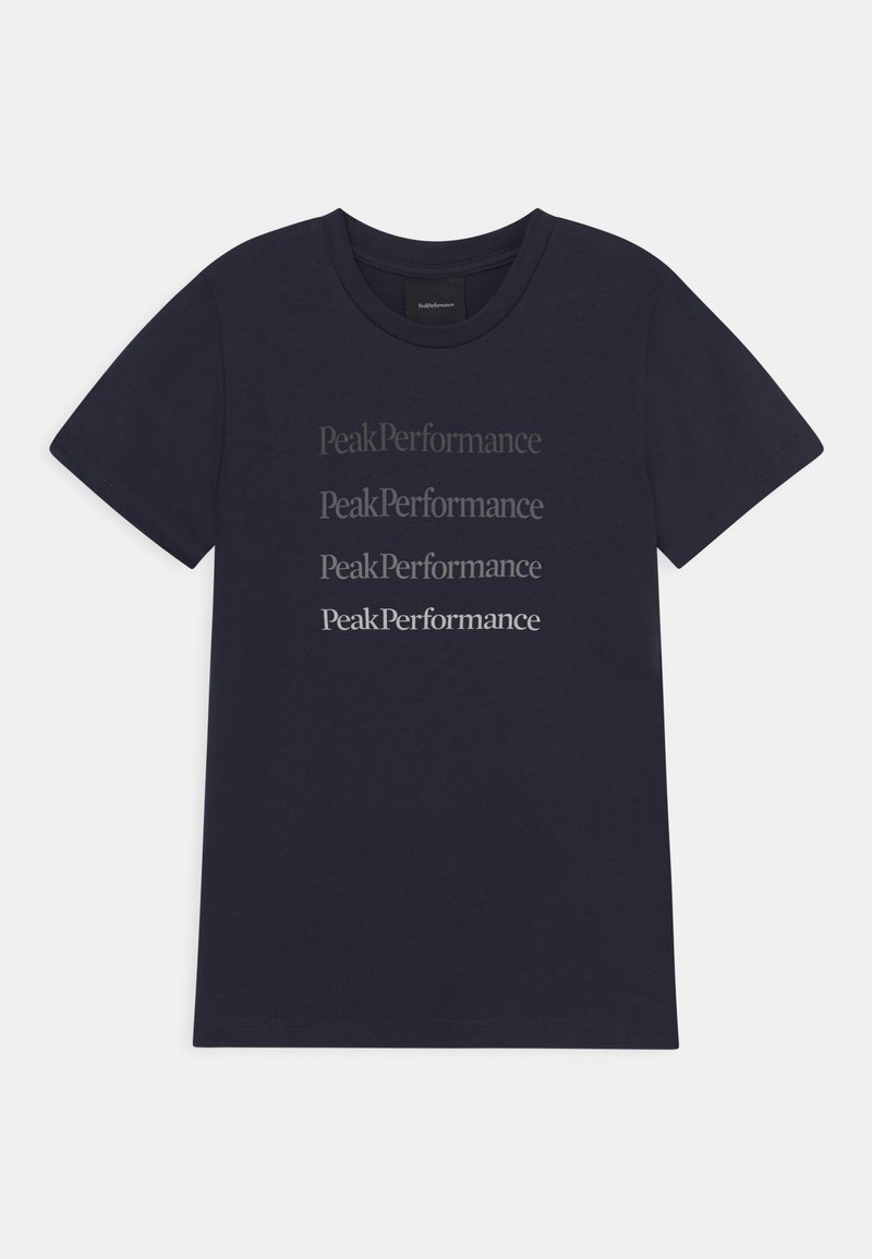 Peak Performance - GROUND TEE UNISEX - T-shirt z nadrukiem - blue shadow