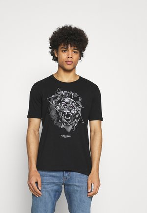 LION TEE - Print T-shirt - grey