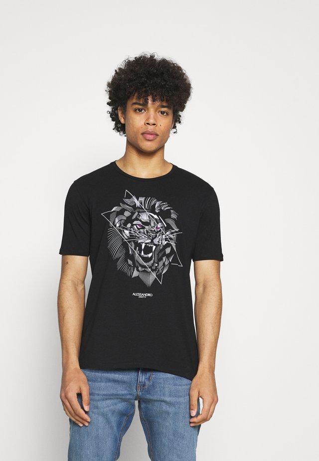 LION TEE - T-shirts med print - grey
