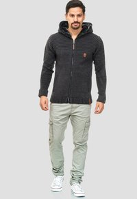 INDICODE JEANS - Zip-up hoodie - anthracite - 1