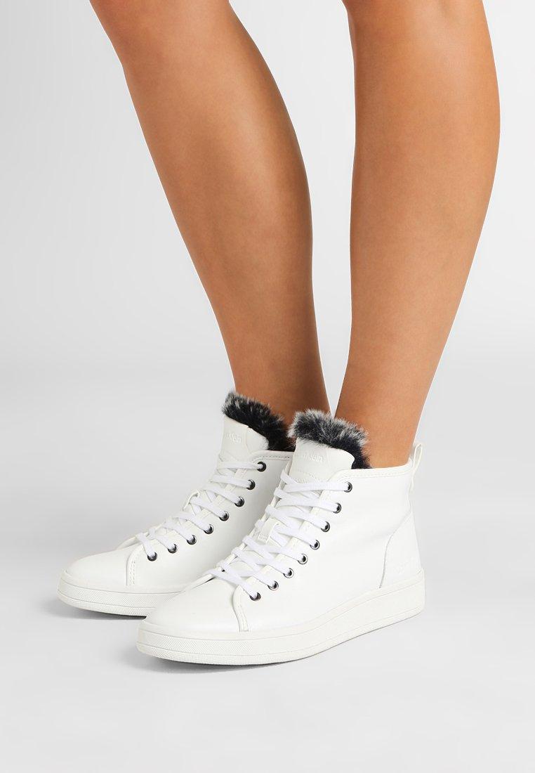 Calvin Klein - SOLEDAD - High-top trainers - white